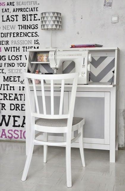 chevron and chalkboard on hemnes bureau - Ikea Hemnes Bureau