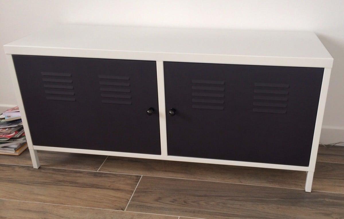 Ikea ps 2012 locker redesigned as tv multimedia cabinet for Ikea locker storage