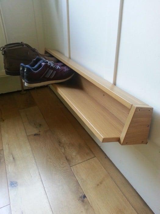 Wall Mounted Shoe Rack From Pax Door Ikea Hackers