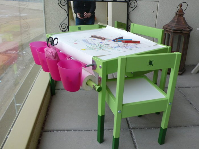 Small Artist Table Ikea Hackers