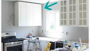 how to hide a soffit in akurum upper cabinet - Ikea Akurum Kitchen Cabinets