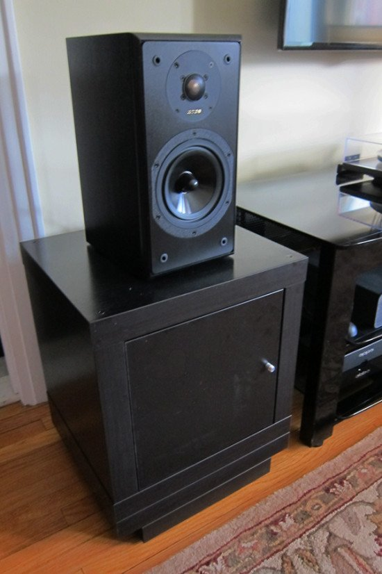 Speaker Stands Record Storage Combo Ikea Hackers Ikea Hackers