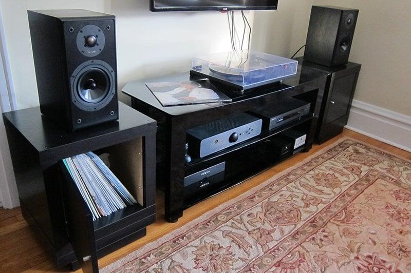 Speaker Stands Record Storage Combo Ikea Hackers