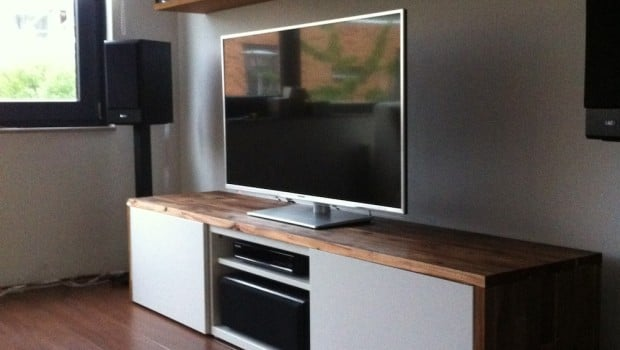 Stylish Tv Audio Cabinet Ikea Hackers Ikea Hackers