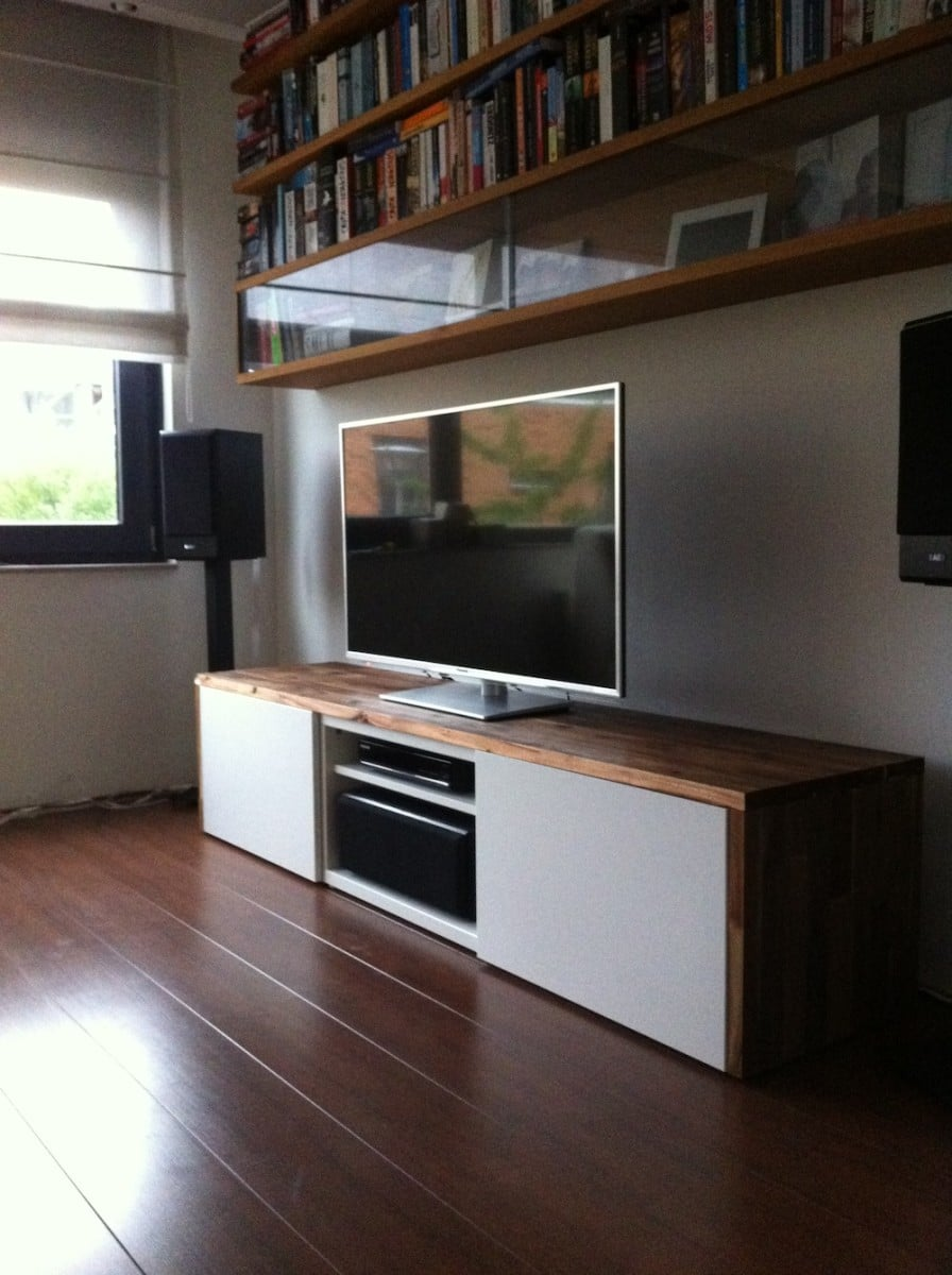stylish tv audio cabinet ikea hackers ikea hackers. Black Bedroom Furniture Sets. Home Design Ideas