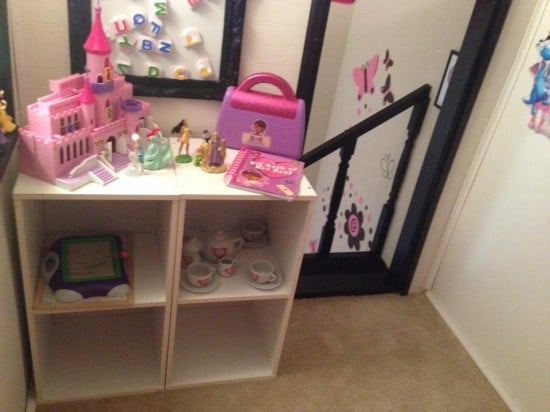 upstairs of playhouse