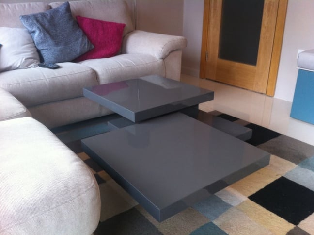 Multi Configuration Rotating Coffee Table