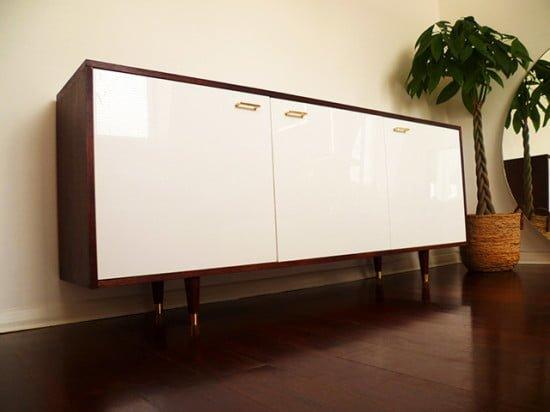 mid century style credenza ikea hackers ikea hackers. Black Bedroom Furniture Sets. Home Design Ideas