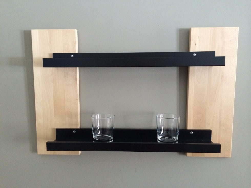 ribba shelf upgrade ikea hackers. Black Bedroom Furniture Sets. Home Design Ideas