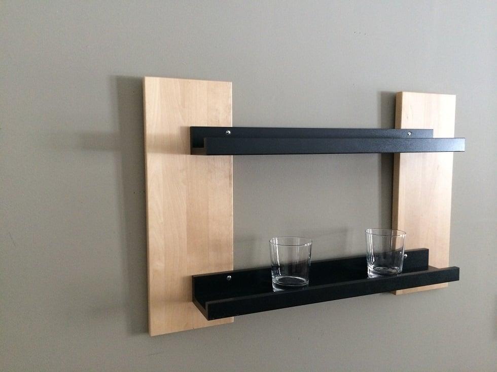 Ribba Shelf Upgrade Ikea Hackers