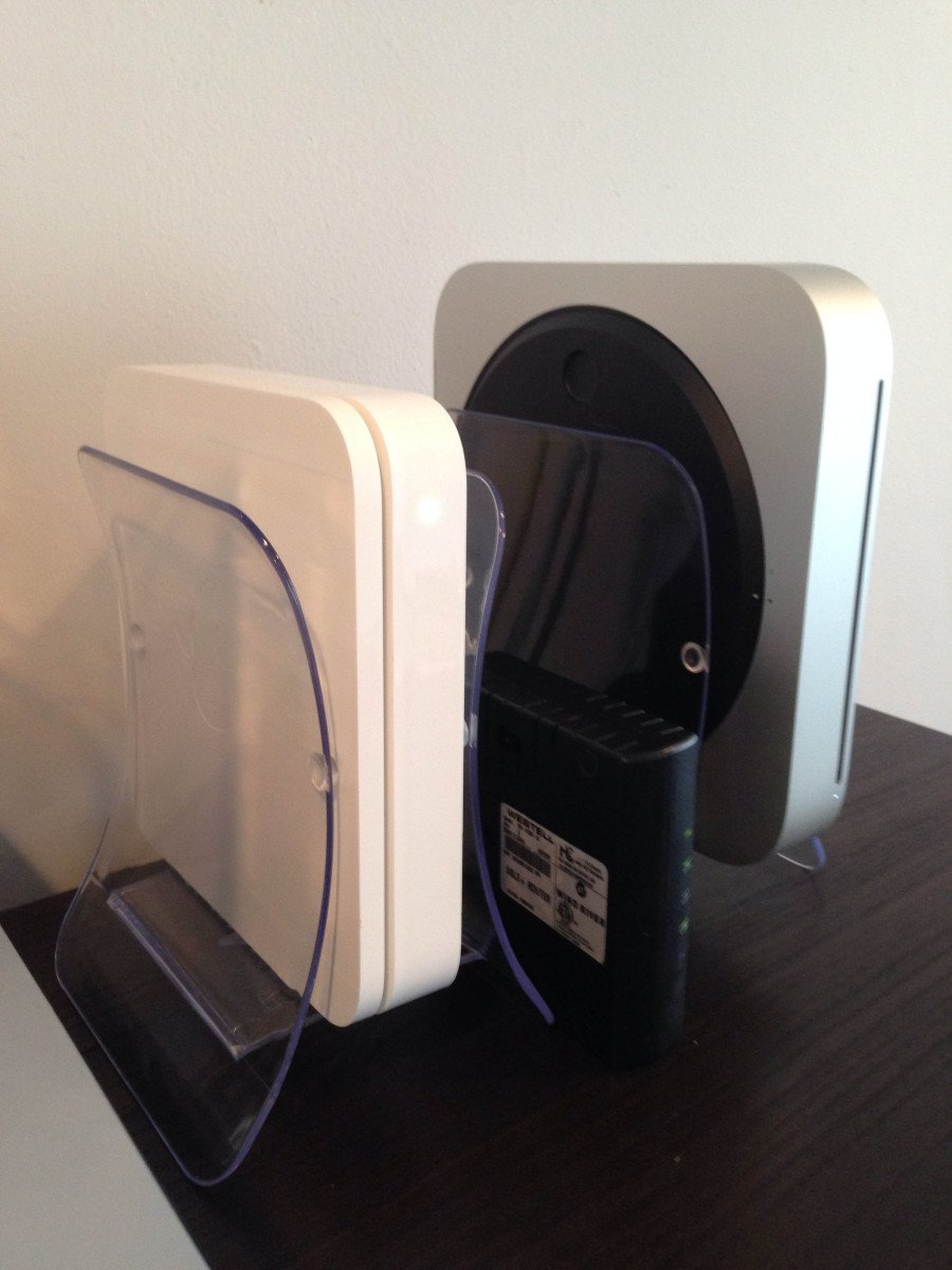 Mac Mini and Apple Airport Extreme Base Station Stands