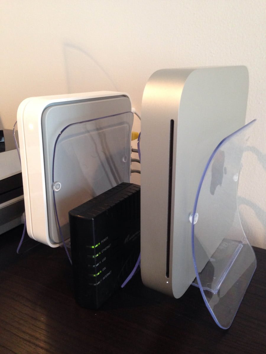Airport Extreme Base Station And Mac Mini Server With Ikea
