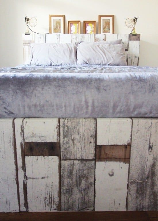 Ikea-Brimnes-bed-wallpapered-headboard-and-footboard