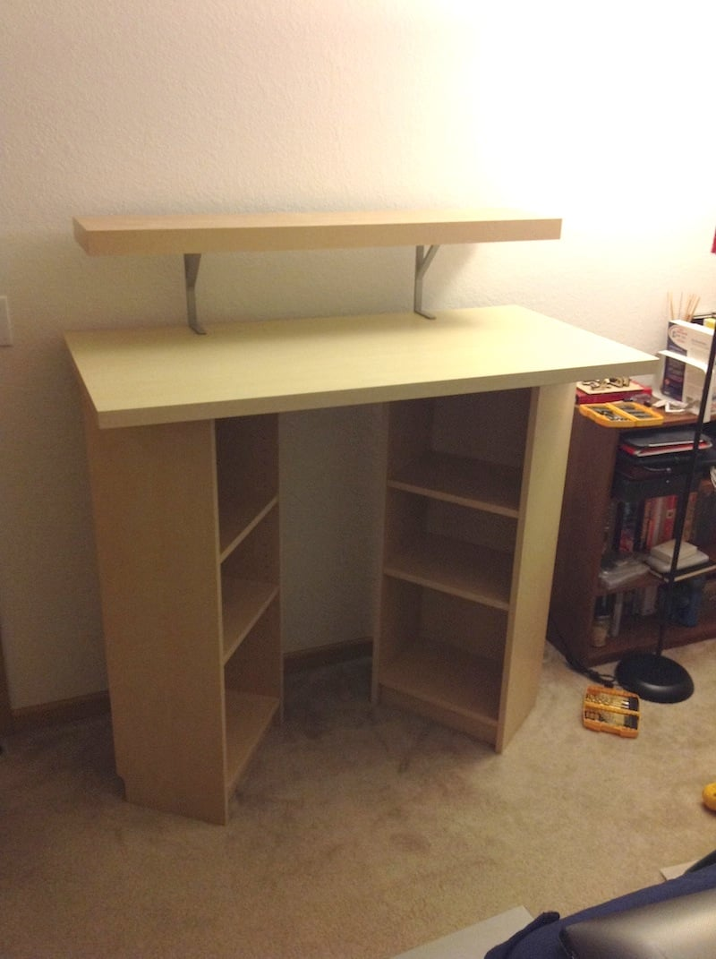 billy standing desk ikea hackers. Black Bedroom Furniture Sets. Home Design Ideas