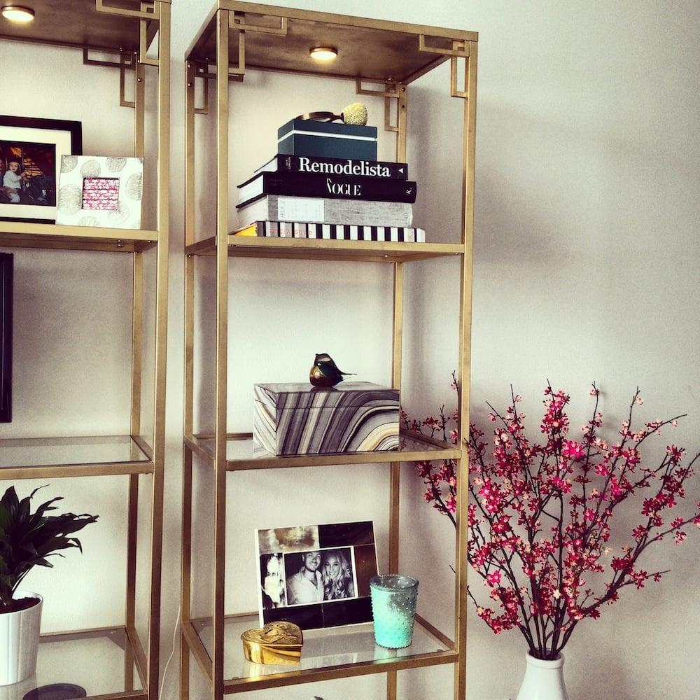 Ikea Hack Bookcase: Greek Key Golden Vittsjo