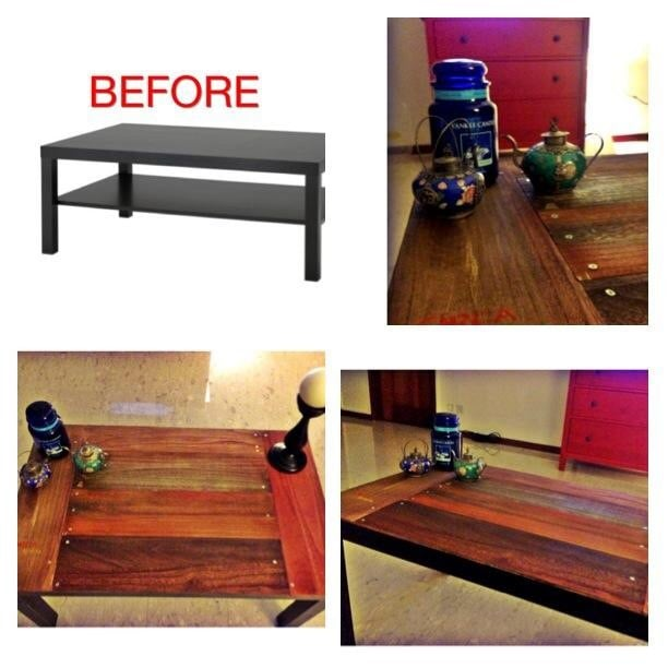 a wood makeover for lack coffee table ikea hackers ikea hackers. Black Bedroom Furniture Sets. Home Design Ideas