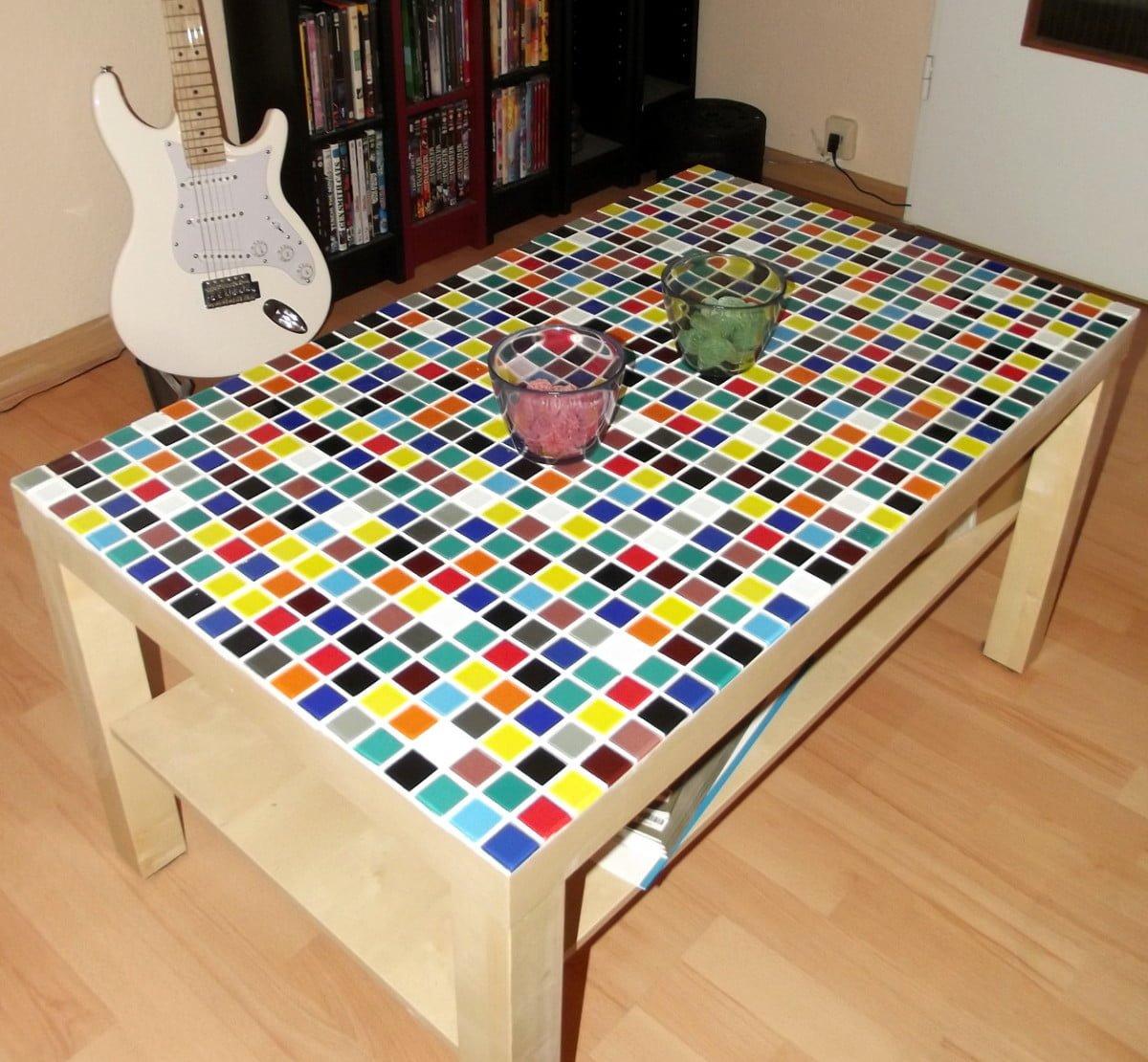 Clown puke lack coffee table ikea hackers ikea hackers - Ikea table lack ...