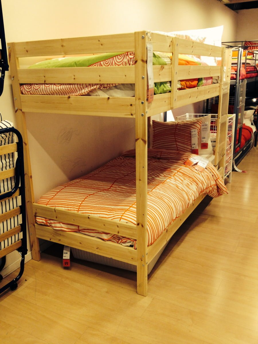Mydal Bunk Bed Hack Added Height Shelf And Malm Drawers Ikea Hackers