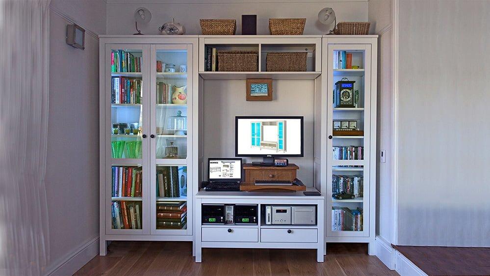 Hemnes Tv Bench Hack For Pcs Or Large Av Equipment Ikea