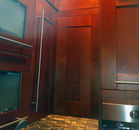 IKEA upper corner kitchen cabinet remodel hack portland