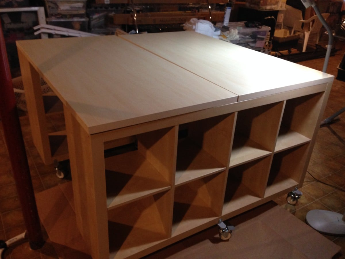 Counter Height Work Table : Craft / Sewing / Work Table Hack - IKEA Hackers - IKEA Hackers