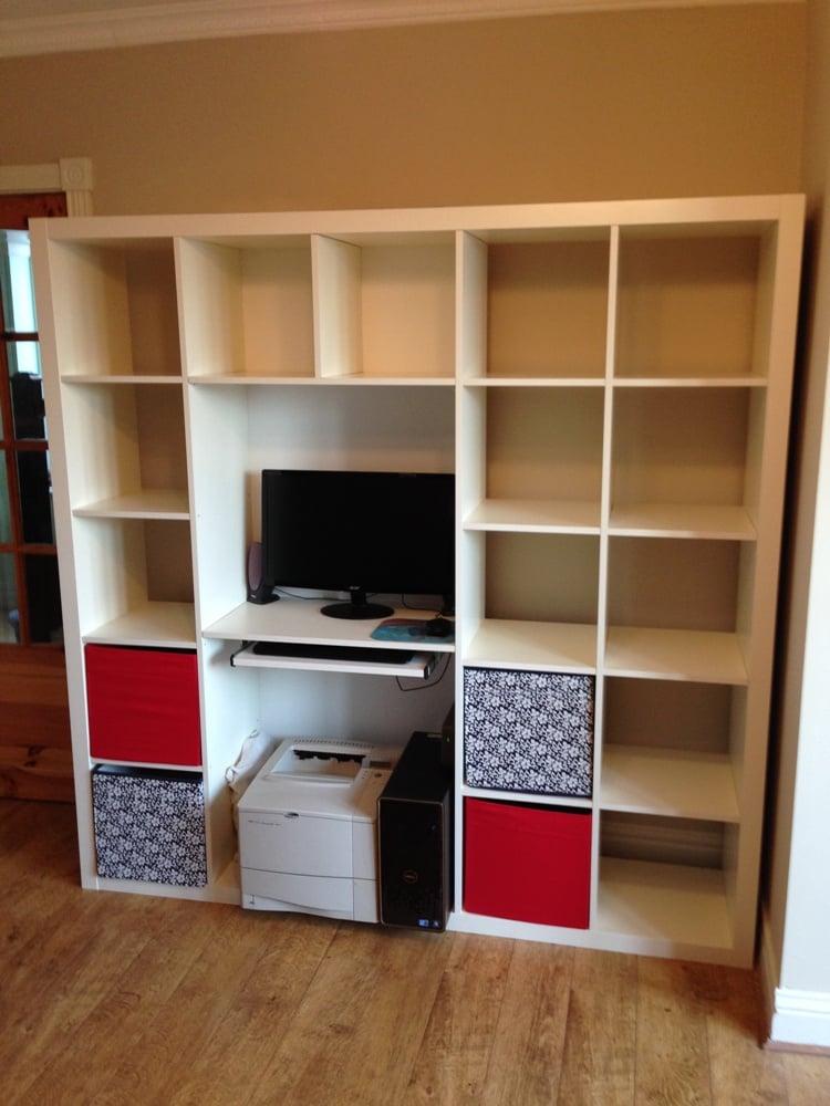 expedit shelving computer desk hack ikea hackers ikea hackers. Black Bedroom Furniture Sets. Home Design Ideas
