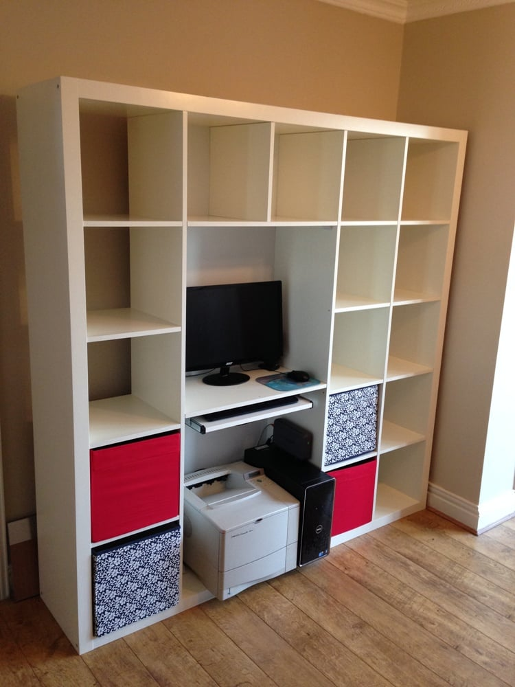 expedit shelving computer desk hack ikea hackers ikea hackers. Black Bedroom Furniture Sets. Home Design Ideas