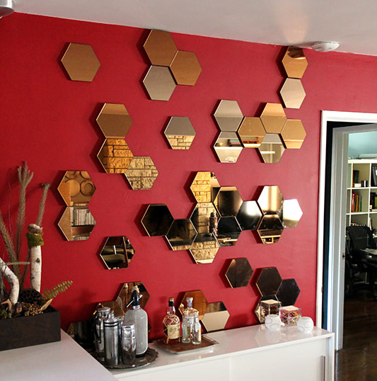 Adding Depth And Swagger To Ikea S Otherwise Flat Hexagonal Hönefoss Mirrors