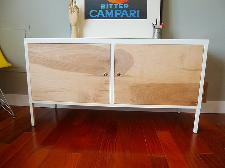 from ikea ps locker cabinet to upscale mid century. Black Bedroom Furniture Sets. Home Design Ideas