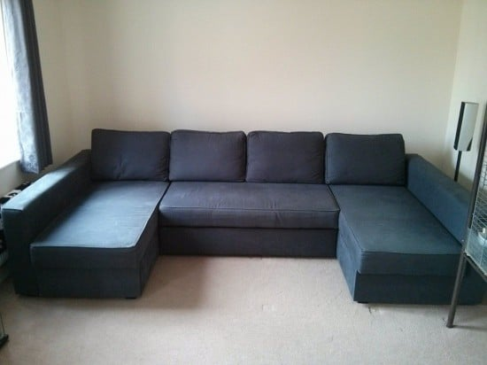 Manstad manstad massive u shaped sofabed ikea for 2nd hand chaise longue
