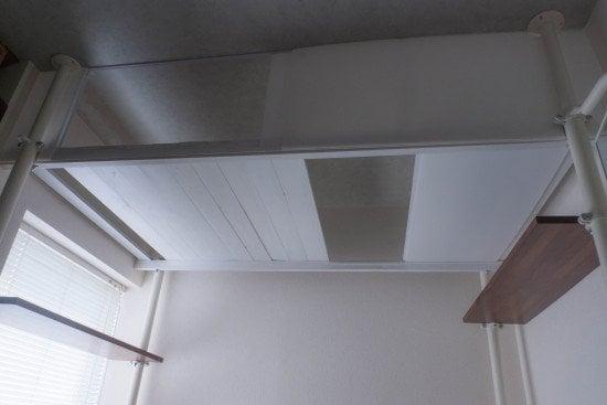 Loft storage with STOLMEN