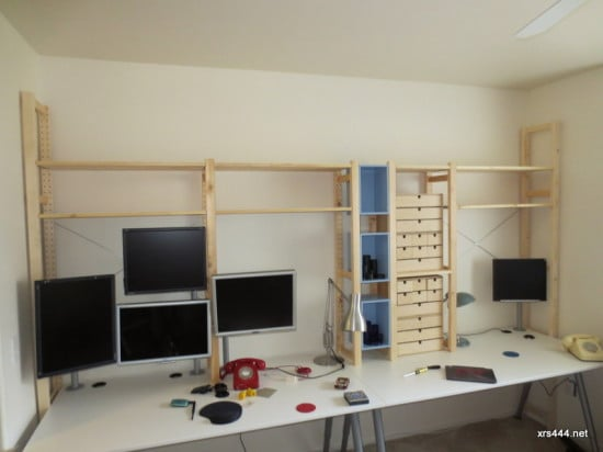 desktop shelving ikea hackers ikea hackers. Black Bedroom Furniture Sets. Home Design Ideas