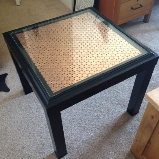 Penny topped ikea lack side table ikea hackers ikea - Table basse lack ikea ...