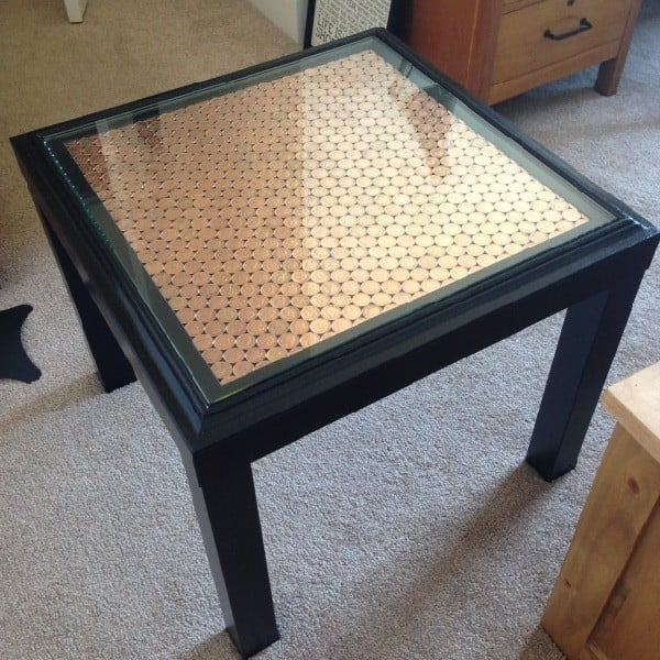 Amazing Penny Topped Ikea Lack Side Table Ikea Hackers Home Interior And Landscaping Transignezvosmurscom