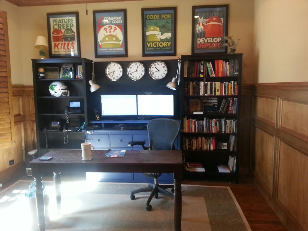 Office Workstation From Two Hemnes Bookcases And Large