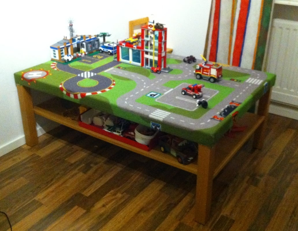 play table with play mat ikea hackers ikea hackers. Black Bedroom Furniture Sets. Home Design Ideas