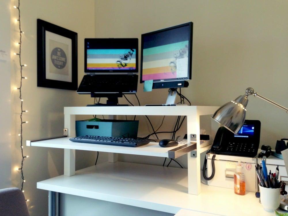 LACK Coffee Table Standing Desk IKEA Hackers IKEA Hackers