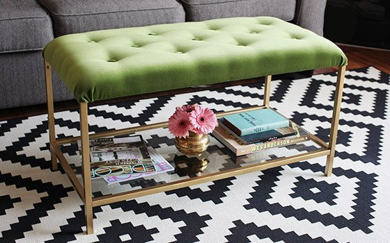 Vittsj nesting table turned chic cocktail ottoman ikea for Ikea cocktail table