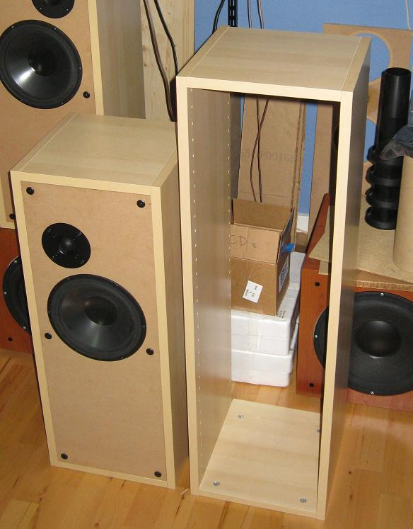 IKEA Kitchen Cabinets To Make BaffleXchange Speaker Boxes Hackers