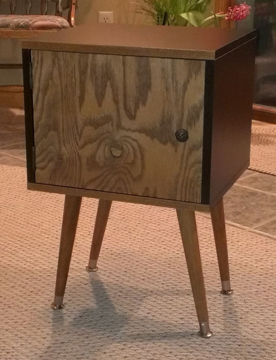 Expedit leftover become mid century style bedside table ikea hackers expedit leftover become mid century style bedside table watchthetrailerfo