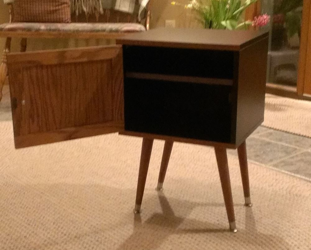Ikea Hack Nightstand Expedit Leftover Become Mid Century Style Bedside Table Ikea