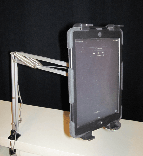 Tertial iPad holder for bed time movie bingeing