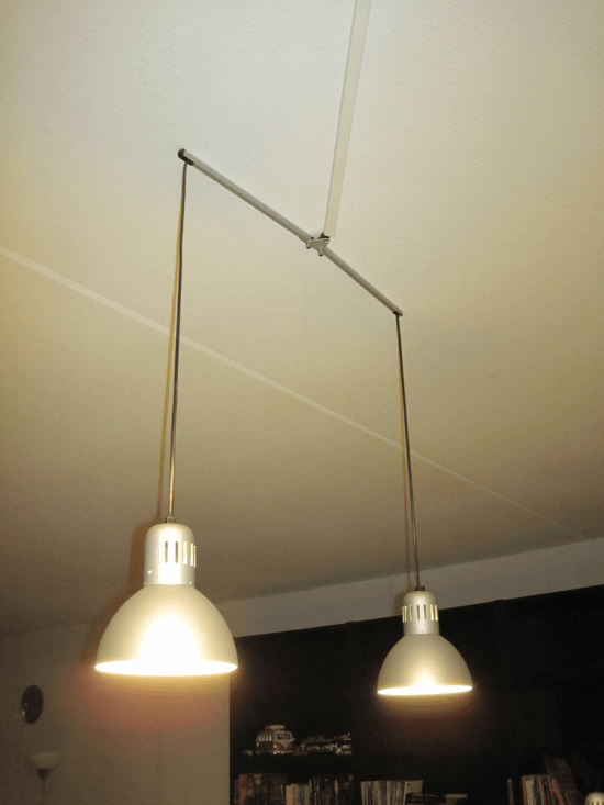 Hanging lamp from IKEA work lamps