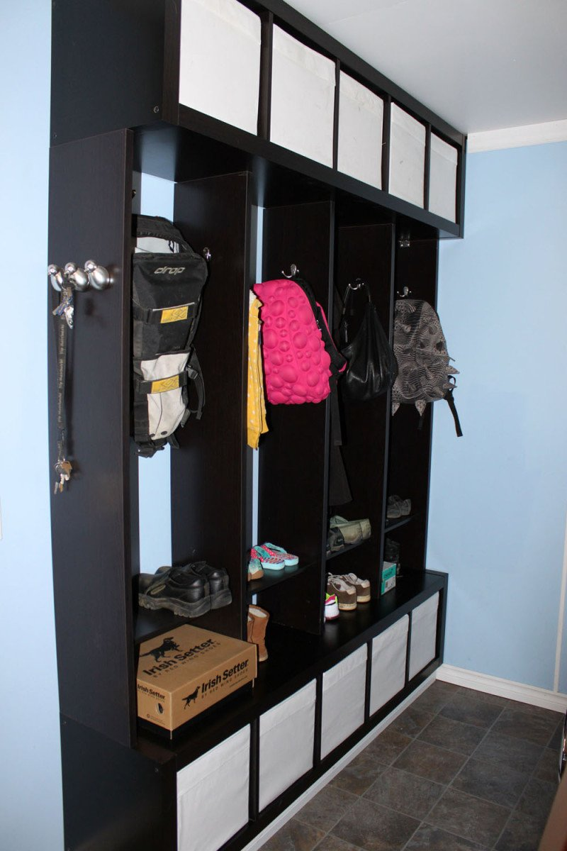 expedit ekby mudroom locker ikea hackers ikea hackers