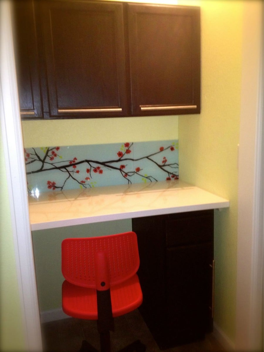 Epic Bad closet turns to good craft space in Laundry room