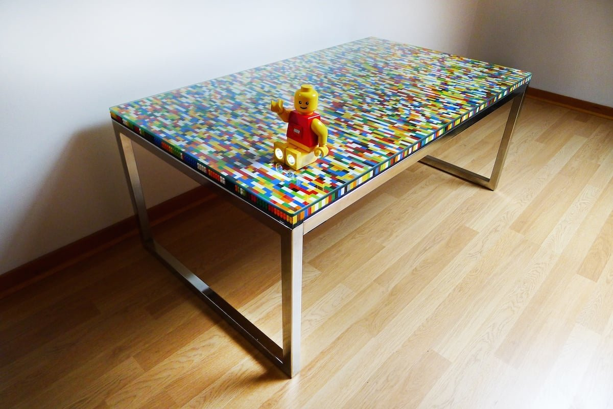 never too many colors aka another lego table ikea hackers. Black Bedroom Furniture Sets. Home Design Ideas