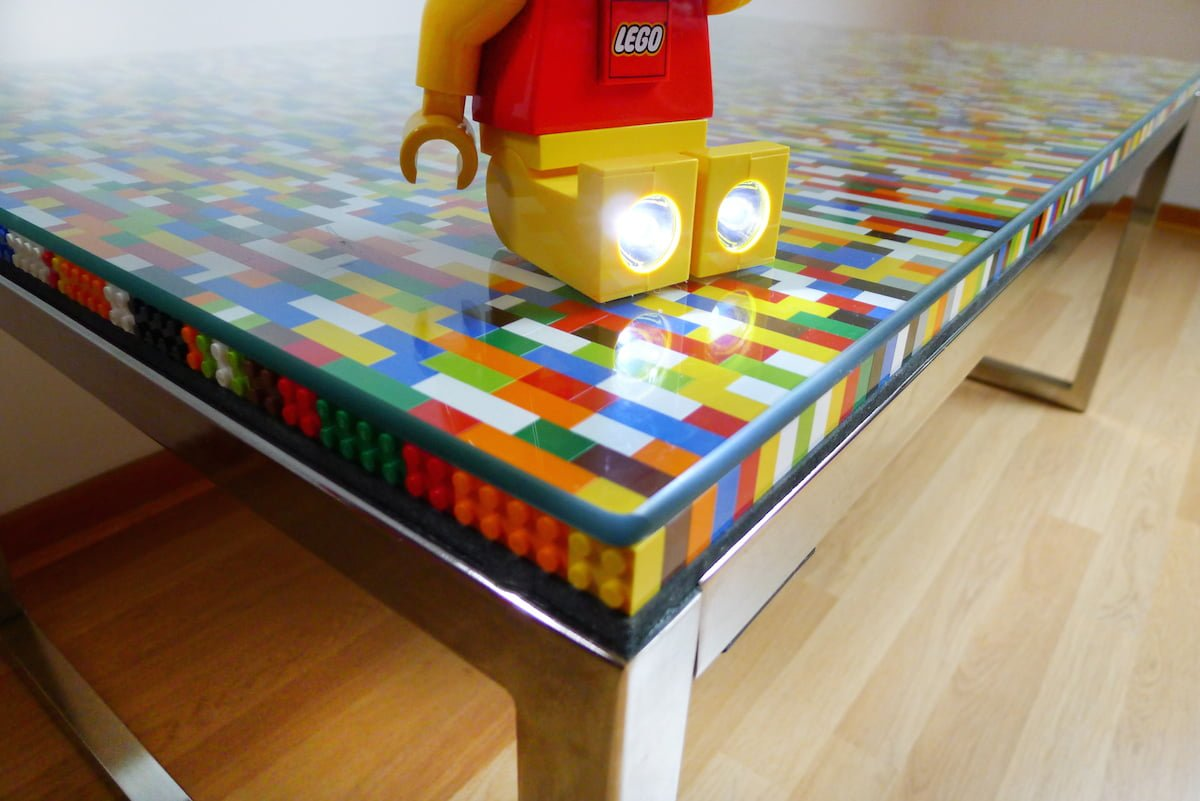 Never too many colors! (AKA Another Lego table) - IKEA Hackers