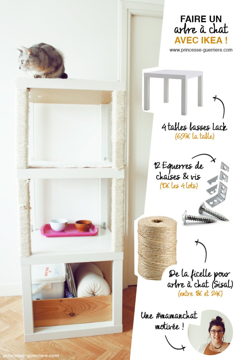 cat tree with ikea lack ikea hackers ikea hackers. Black Bedroom Furniture Sets. Home Design Ideas