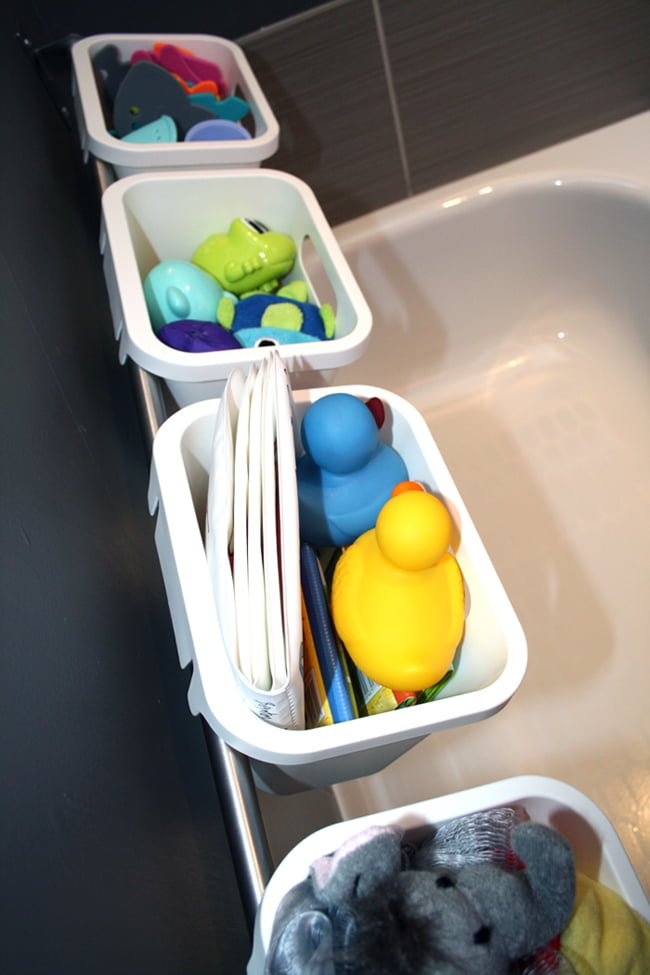 Bath Toy Storage Bin. bath toy organizer bathtub mesh net baby toy ...