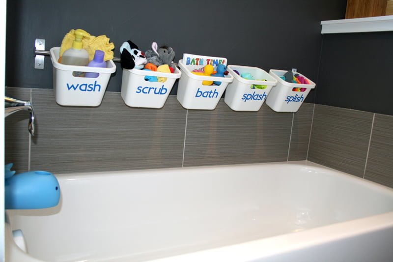 Bath Toy Storage That Transforms To Guest Luxury Bathroom Ikea Hackers